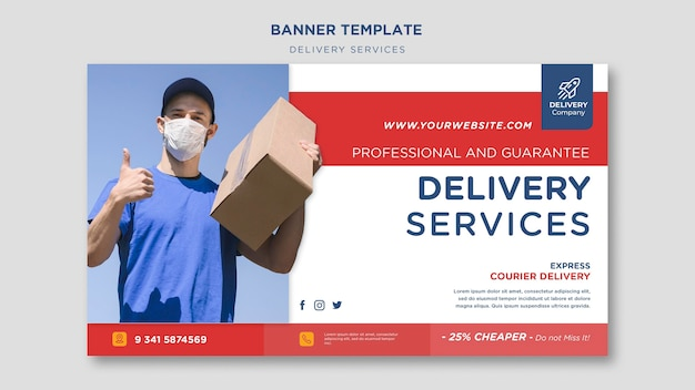 Delivery services template banner