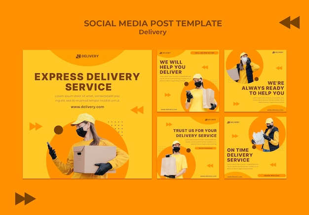 Delivery social media posts