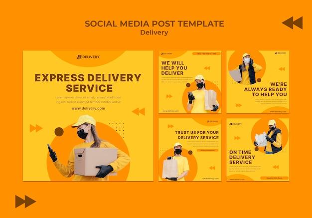 Consegna di post sui social media