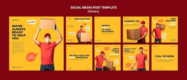 Delivery soical media post