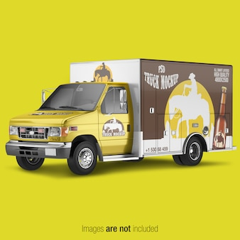 Delivery truck mockup