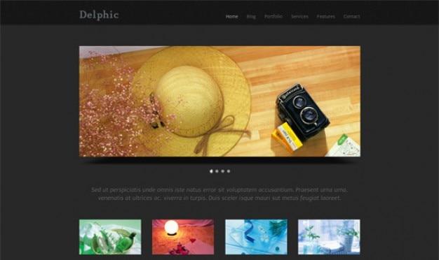 Delphic dark - html template