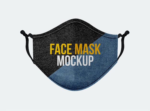 Denim-face-mask-mockup-in-front-view