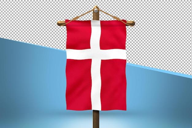 デンマークハングフラッグデザインの背景