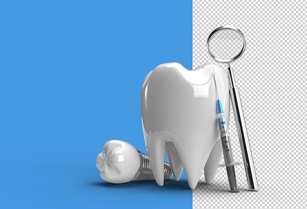 歯科インプラント手術コンセプト3dレンダリング透明psdファイル