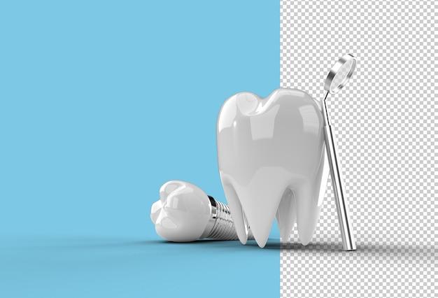 Dental implants surgery concept.