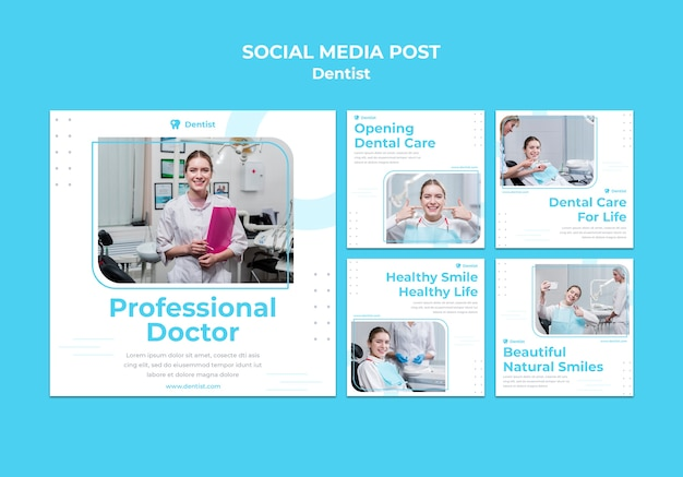 Dentist ad social media post template