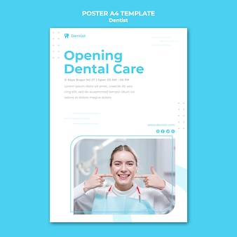 Dentist ad template poster