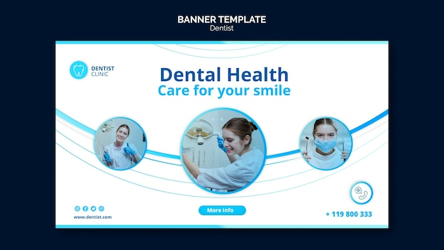 Dentist banner design
