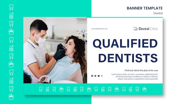 Dentist banner template style