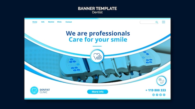 Dentist banner template theme
