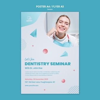 Dentist clinic flyer template