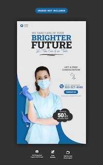 Dentist and dental care instagram and facebook story template
