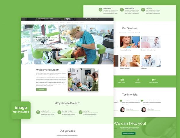 Psd шаблон стоматология медицина и больница