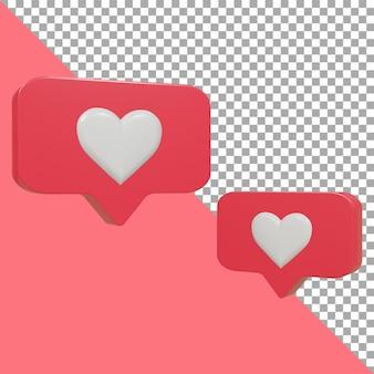 Дизайн 3d пузырь любовь розовый обтравочный контур