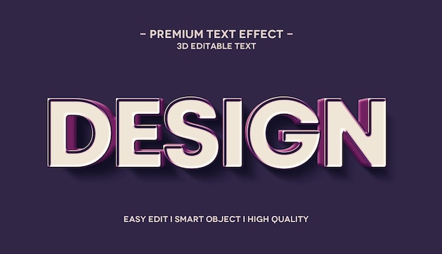 디자인 3d 텍스트 효과 목업 템플릿