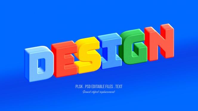 Design 3d text style effect
