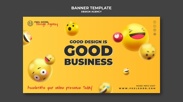 Design agency banner template