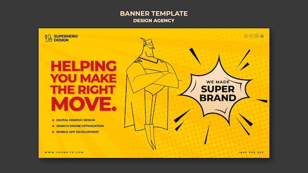 Design agency banner template