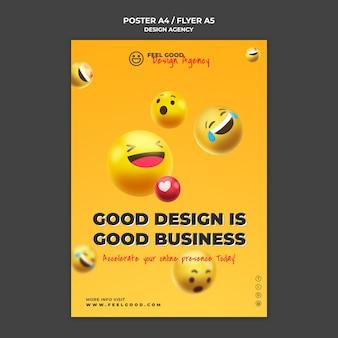 Design agency flyer template