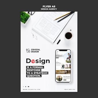 Шаблон флаера дизайн-агентства Premium Psd
