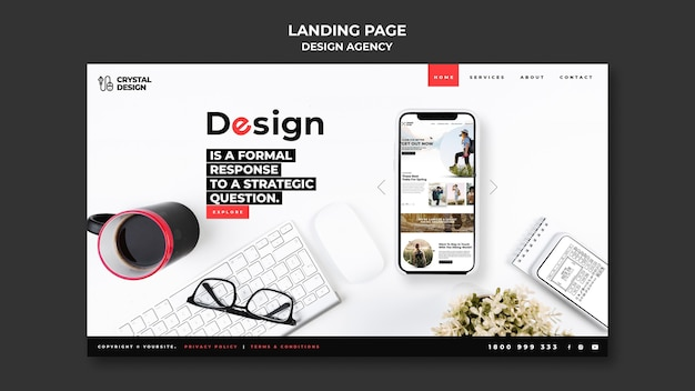 Design agency landing page template