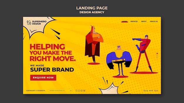 Pagina di destinazione dell'agenzia di design