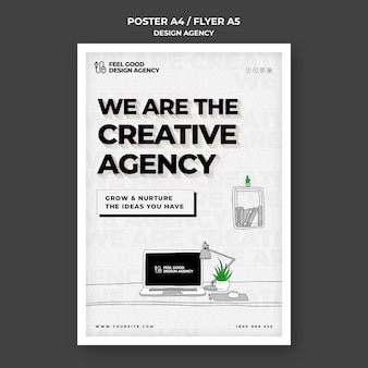 Design agency poster template