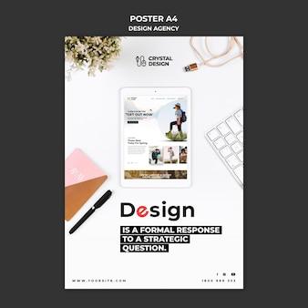 Шаблон плаката дизайн-агентства