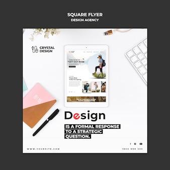 Квадратный флаер дизайн-агентства