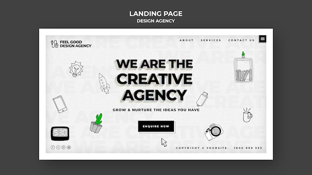 Design agency web template