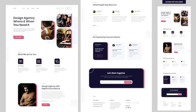 デザインエージェンシーのウェブサイトテンプレート