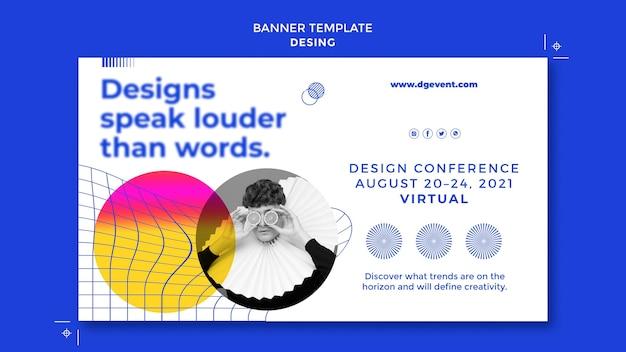 Modello di banner per eventi di design