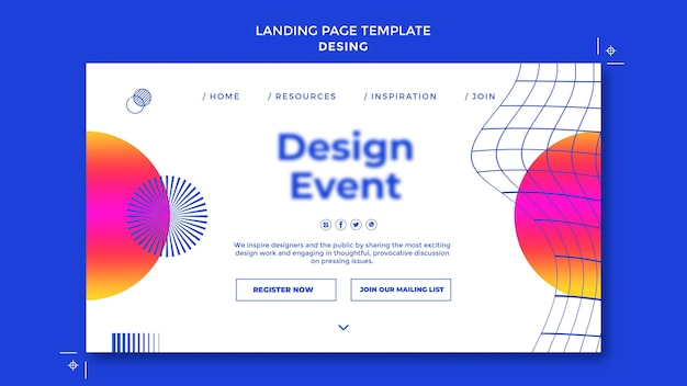 Дизайн шаблона целевой страницы мероприятия