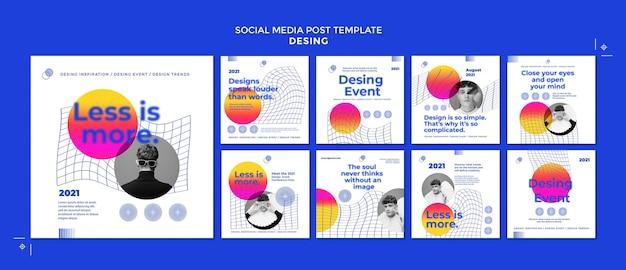 Создавайте сообщения о мероприятиях в социальных сетях Premium Psd