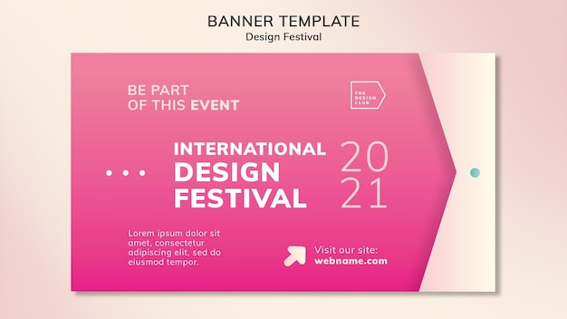 Дизайн фестиваля баннер шаблон
