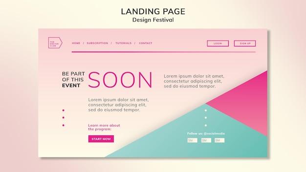 Целевая страница фестиваля дизайна