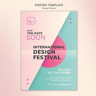 Modello di poster del festival di design