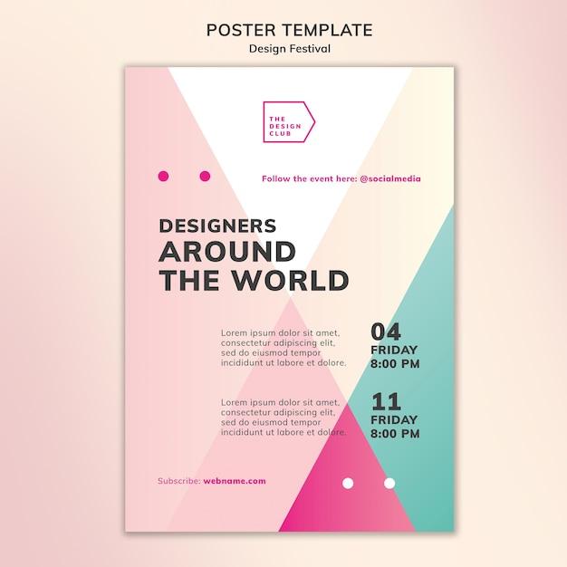 Design festival poster template