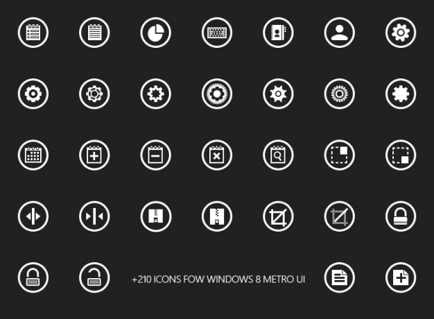 Design freebie glyphs icons mobile phone resources windows