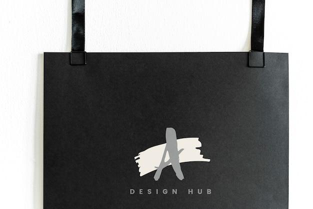 A design hub logo mockup