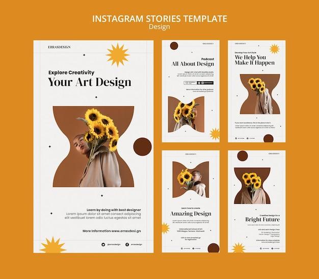 Шаблон оформления историй instagram