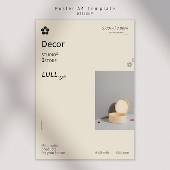Design interior poster template