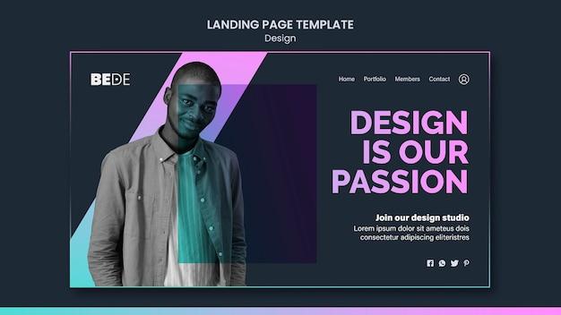Modello di pagina di destinazione del design