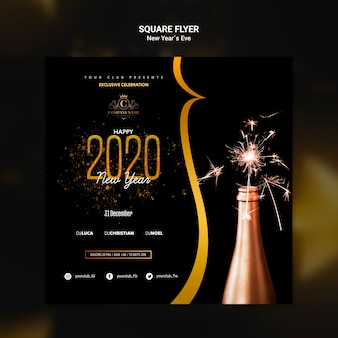 Design for new year eve template