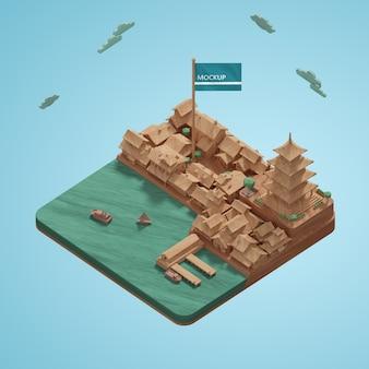 Дизайн города, мировой день модель