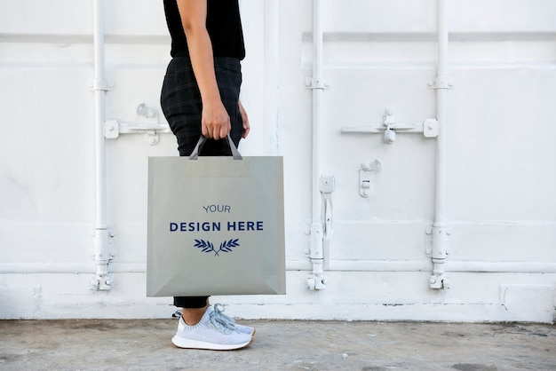 Design space on blank paper bag