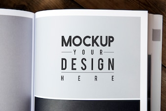 Design space on magazine page