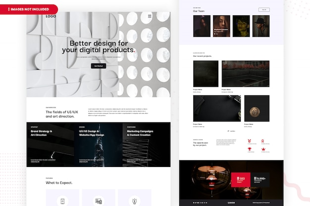 Design your digital products website page