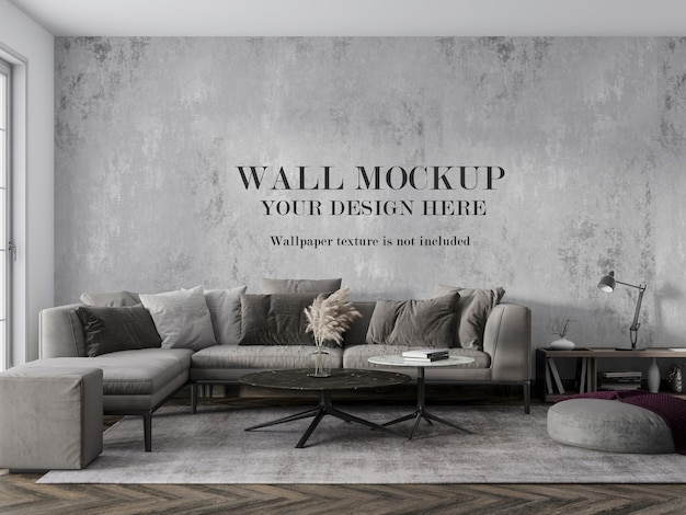 Design your living room wall with accessories